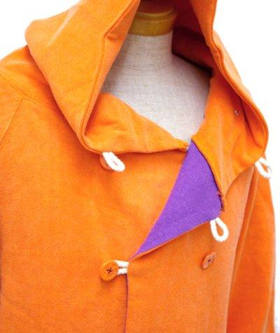 画像1: RENATUREユニセックス「フーデットPパーカー/オレンジ 」