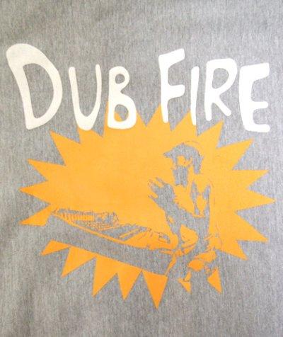 画像1: MANALIBREユニセックスパーカー「DUB FIRE/グレー」