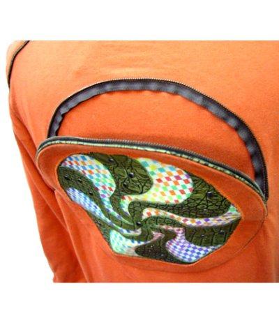 画像3: COSMIC WEBユニセックス・ジャケット「スパイラル/オレンジA」