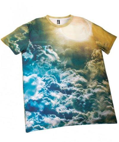 画像1: IMAGINARY FOUNDATION メンズ・サブリメイションTシャツ「SUNBATHING」