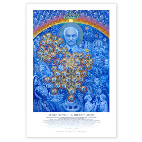画像1: ALEX GREY ポスター「Albert Hofmann & the New Eleusis」 (1)