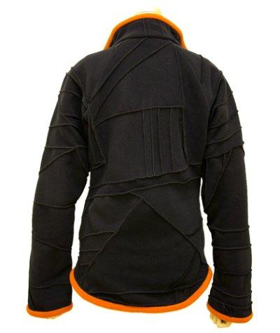 画像2: BONEレディース・パッチワークジャケット/ブラック&オレンジ