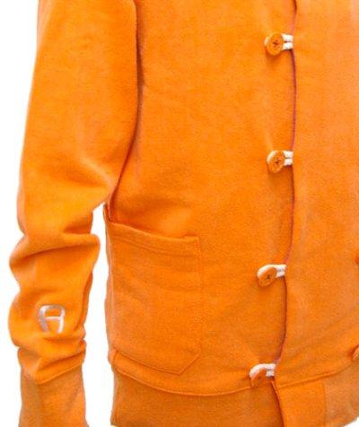 画像2: RENATUREユニセックス「フーデットPパーカー/オレンジ 」