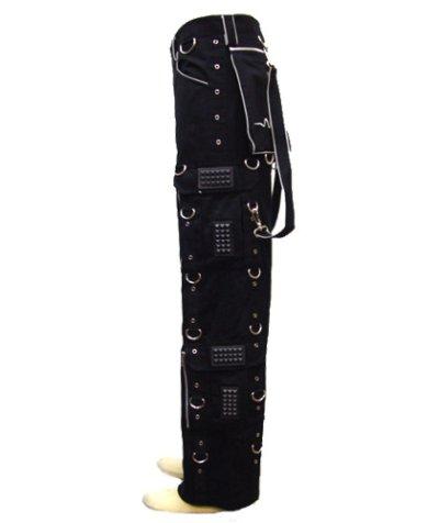 画像2: SPACE TRIBEユニセックスパンツ「 PULSE /ブラック&リフレクター」