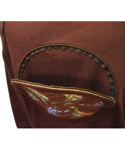 画像3: COSMIC WEBユニセックス・ジャケット「スパイラル/ブラウンD」