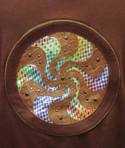 画像2: COSMIC WEBユニセックス・ジャケット「スパイラル/ブラウンD」