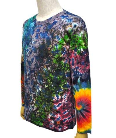 画像1: GRATEFUL TIE-DYE FACTORYメンズ・長袖Tシャツ042/Sサイズ