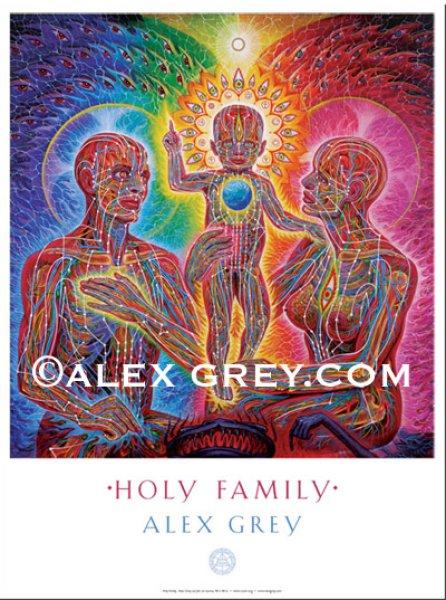 画像1: ALEX GREY ポスター「Holy Family」 (1)