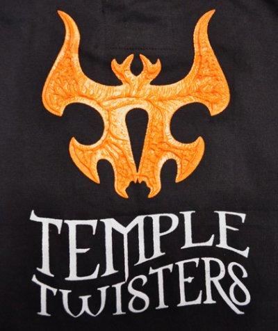 画像3: MELTING GALAXY ユニセックスTシャツ「TEMPLE TWISTERS / Aalekh Boom! 」