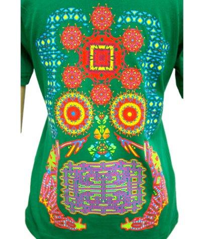 画像1: SHIVA GROUPレディースTシャツ「Protective thought way/グリーン」