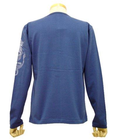 画像1: VISIBLE ELEPHANT 47メンズ長袖Tシャツ「#099トリトネス /ブルー」