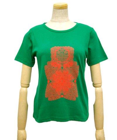 画像2: SHIVA GROUPレディースTシャツ「Protective thought way/グリーン」