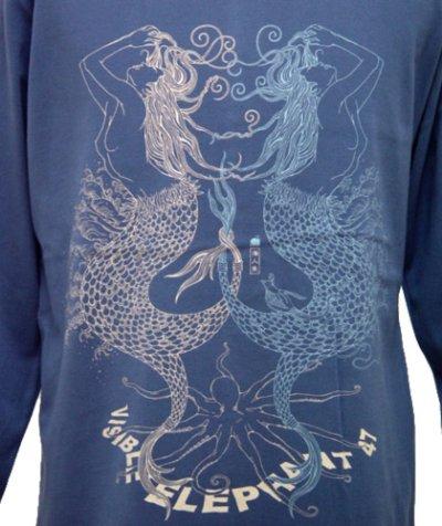 画像2: VISIBLE ELEPHANT 47メンズ長袖Tシャツ「#099トリトネス /ブルー」