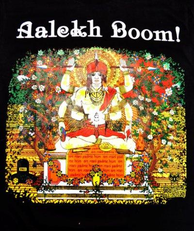 画像1: MELTING GALAXY ユニセックスTシャツ「TEMPLE TWISTERS / Aalekh Boom! 」