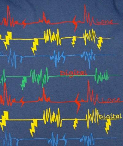 画像2: DIGITAL LOVEメンズ・長袖Tシャツ「LINE-SLV4 /ブルー」