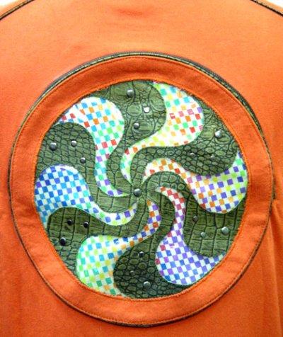 画像2: COSMIC WEBユニセックス・ジャケット「スパイラル/オレンジA」
