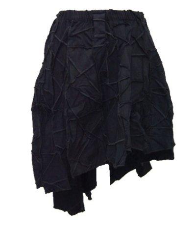 画像1: BONEスカート/ブラック
