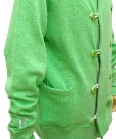 画像2: RENATUREユニセックスジャケット「フーデットPパーカー/アップルグリーン 」