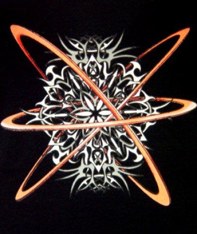 画像2: SPACE TRIBEキャミソール「ORBITAL/オレンジ」
