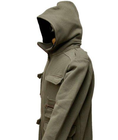 画像1: PLAZMAメンズ・パーカー「War Jacket/ストーン」