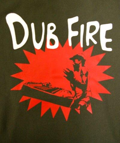 画像1: MANALIBREユニセックスパーカー「DUB FIRE/オリーブ」