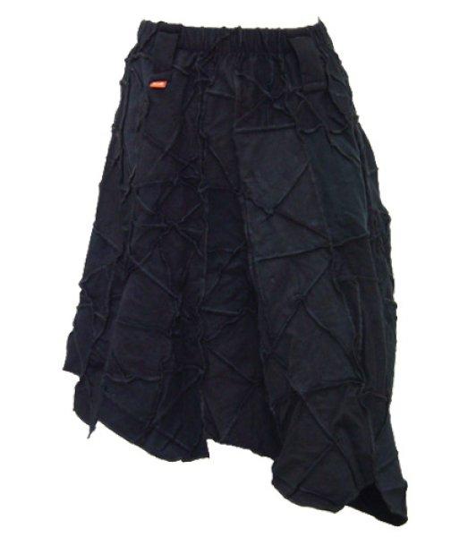 画像1: BONEスカート/ブラック (1)