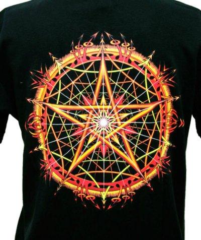 画像1: SPACE TRIBEメンズ・Tシャツ「Stellar Fire」