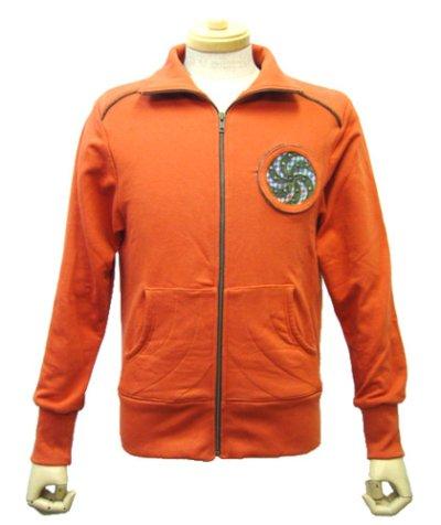 画像1: COSMIC WEBユニセックス・ジャケット「スパイラル/オレンジA」