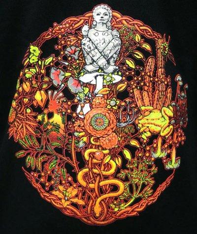 画像1: SPACE TRIBEメンズ・パーカー「Fire Organix 」