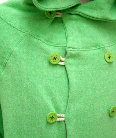 画像3: RENATUREユニセックスジャケット「フーデットPパーカー/アップルグリーン 」