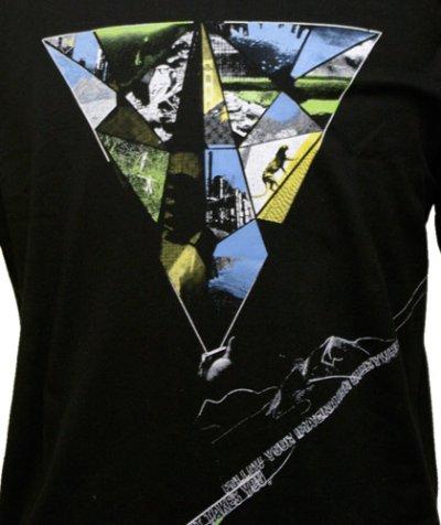 画像1: PLAZMAメンズTシャツ「I M A GIN ATION/ブラック」